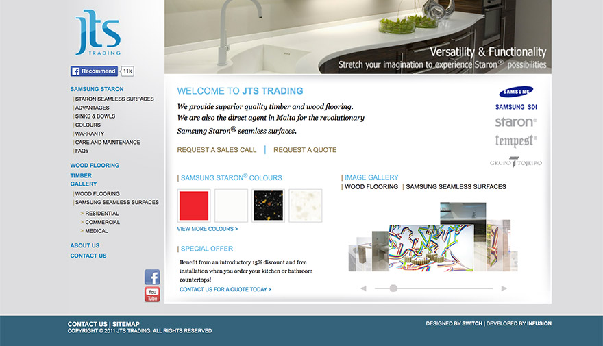 JTS Trading - new web portal launched - IT Consultancy