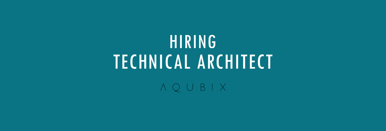 HIRING TECHNICAL ARCHITECT IT Consultancy Software